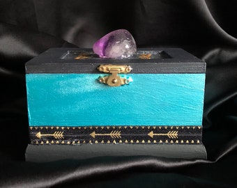 Golden Stardust Jewelry Box