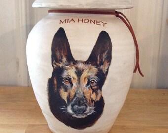 Custom Dog Urn 75 lb Pet