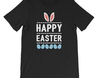 Happy Easter Bunny Shirt Kids Easter Sunday Egg Hunt Hunting