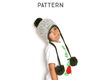 The Crochet Pom Pom Peruvian Hat Pattern, crochet pattern, step by step tutorial, phototurial, all sizes, baby, toddler, child, young, adult