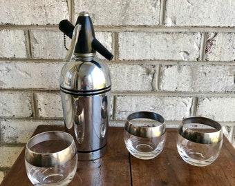 Vintage Sparklet Syphon Seltzer Bottle | Retro Bar Decor | Atomic Soda Syphon | Art Deco Seltzer Bottle | Mad Men Decor | Retro Barware |