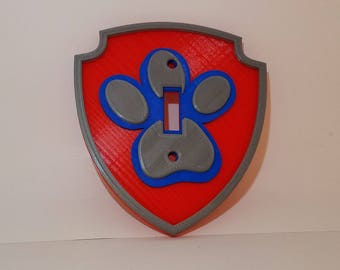 Paw Patrol | light switch | Light Cover | Cover Plate | Paw Patrol Decor | Paw Patrol Room | Paw Patrol Badge | Paw Patrol Gift | Nursery