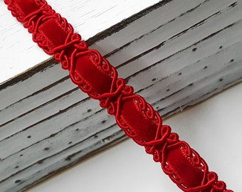 """5/8"""" Braid Ribbon Trim for Costume, Crafts and Sewing by yard, STEP-7540"""