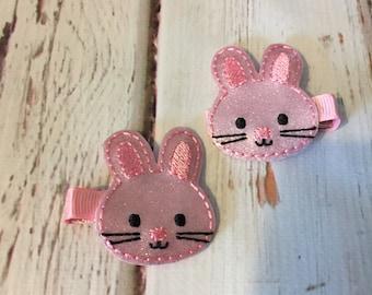 Easter Hairclip - Easter Bunny Hairclip - Bunny Hairclip - Easter Hair Pretty - Easter Feltie - Bunny Feltie