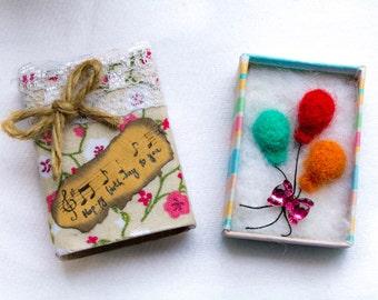 Birthday Gift Box Matchbox Favor Box Promposal box Customized Gift Box Matchbox Art  Made to Order