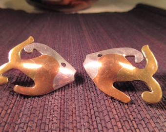 Metale Casada Fish Earrings - Mexico