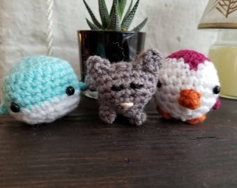 2 Mini Amigurumi Animals