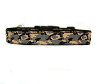 1 Inch Wide Dog Collar with Adjustable Buckle or Martingale in  Camo