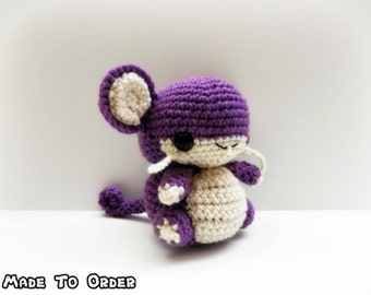 Crochet Rattata Inspired Chibi Pokemon