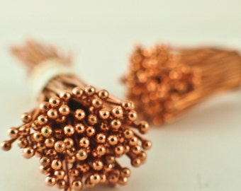 100 Solid Copper Ball Head Pins - 1.5mm Ball - 22 gauge or 24 gauge - Raw or Custom Oxidized - 100% Guarantee