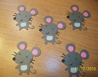 Mice die cuts - set of 5