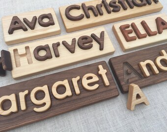 Wooden Name Puzzle -- Custom Name Puzzle -- Heirloom Quality Natural Hardwoods