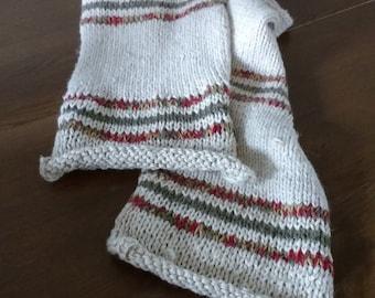 Hemp and wool scarf