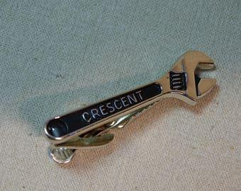 Crescent Tie Bar / Tie Clip Tool Tie Accessory by Kinney Co.