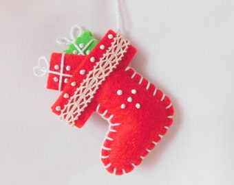 Handmade Christmas Stocking Decoration - inspired by Finland