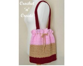 Market Tote Bag Crochet Pattern (DOWNLOAD) CNC77