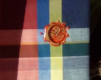 DB Venice Wax Seal Fabric Cover Notebook