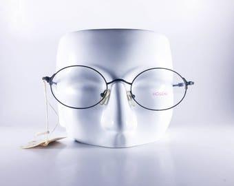 Hoseki Vintage Eyeglasses HF 150 K8 Made in Italy Unisex Metal Silver NOS Deadstock - HosF447Y-1