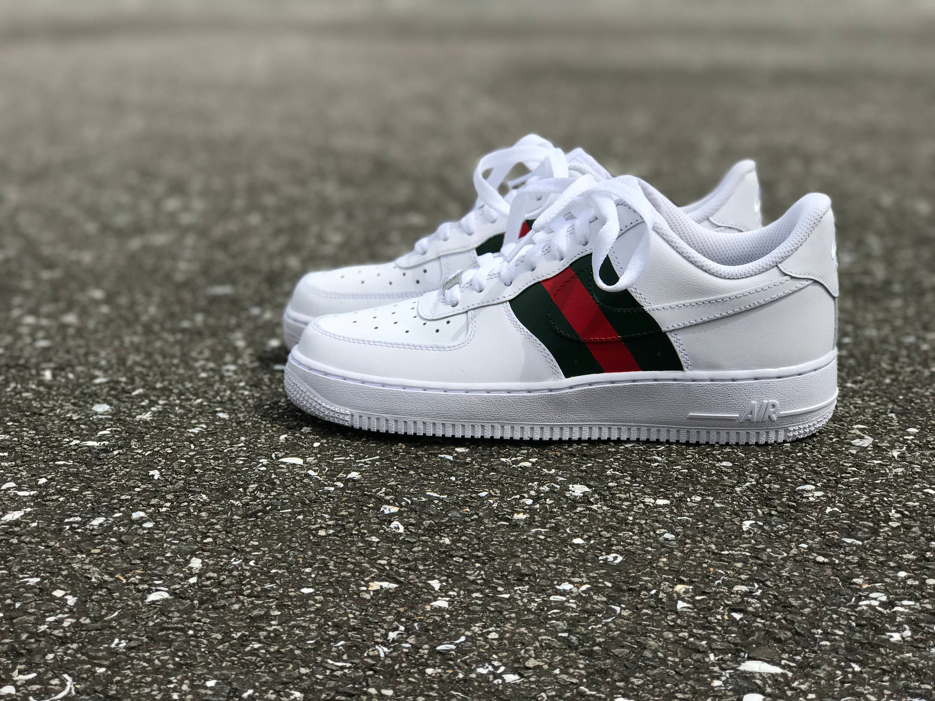 online retailer 064ca 1653e ... Nike Air Force 1 Gucci custom by fawl ...