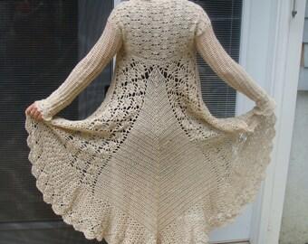 Long Sweater Crochet Pattern pdf 744