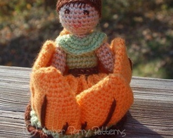 PDF Pattern - Autumn Pixie with Flower