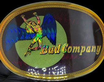 Rare Vintage NOS 1970s 1977 Bad Company Rock Roll Music Band Album Promo Tour Pacifica Belt Buckle Unused