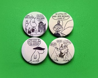 Moomin set - button badge or magnet 1.5 Inch