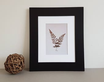 Pressed flower art print 8x10 matted print from one of my original pressed flower artwork made w/ real dried flowers - botanical art print