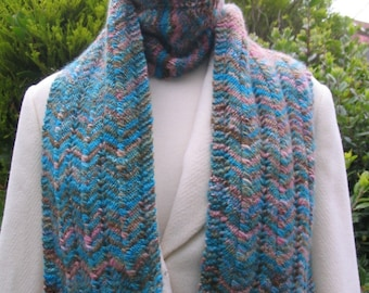 Scarf Knitting pattern for hand dyed yarn - Knitting Pattern PDF
