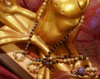 Soapstone Mala with Opulent Arches Color-Changing Mood Guru