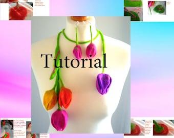 tutorial   felting   in PDFWet Felted Flower Instructional , felting pattern, craft pdf tutorial, wet felting tutorial,