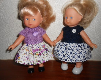 Doll clothes (2 outfits) mini corolline Corolla-20 cm - a lavender, Navy