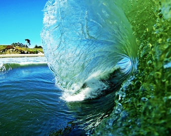 Wave Art Photography, Surf Photo,  California Beach Style , Photos of Waves, Santa Cruz Beaches Prints
