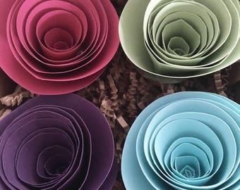 Paper Flower Magnets - Decorative Magnets - Refrigerator Magnet Sets
