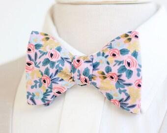 Bow Ties, Bow Tie, Bowties, Mens Bow Ties, Freestyle Bow Ties, Self-Tie Bow Ties, Groomsmen, Wedding Ties, Rifle Paper Co - Rosa In Violet