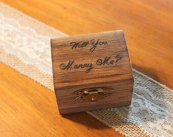 proposal ring box, engagement ring box, wedding ring box, ring holder, unique proposal box, wood ring box, rustic ring box, wedding keepsake