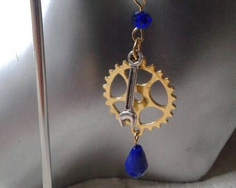 """""""steampunk gold and silver"""" earrings"""
