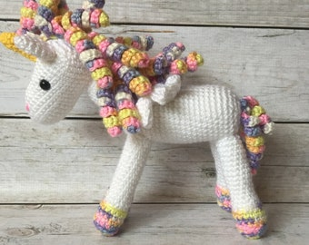 Crochet Unicorn - Stuffed Crochet Unicorn - Stuffed Animal - Unicorn - Stuffed Toy - Baby Toy - Photo Prop - Plush Unicorn - Unicorn Toy