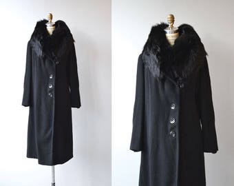 St. Louis wool coat | vintage 1930s dress | fur collar 30s coat