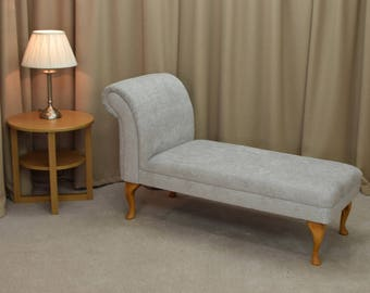 "52"" Classic Armless Chaise Longue in a Oleandro 1426 Fabric with Light Oak Legs"