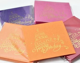 12 Happy Birthday Cake Greetings Card / Gift Card / Money Envelopes