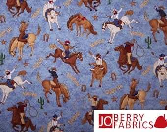 Rodeo Fabric, Rodeo Roundup by Cheri Strole for Northcott, Quilt or Craft Fabric, Fabric by the Yard