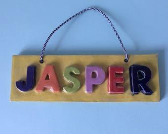 Kids Personalised Door Sign/ Custom Order/ Door Name / Personalised Sign / Children's Name Sign/ Door Plaque