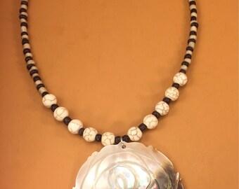 Shell Stone Seedbead Beaded Necklace