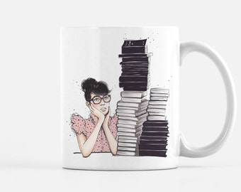 Literary Coffee Mug, Literary Gifts, Unique Coffee Mug, Fashion Coffee Mug, Bookworm Gifts, Coffee Lover Gift, College Student Gift