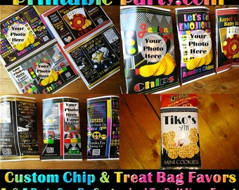 Potato Chip Bags | Custom Chip Bags | Personalized Treat Bags | Loot Bags