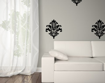 Wall Decal - Damask Wall Decal Set - Damask Wall Decal 0038