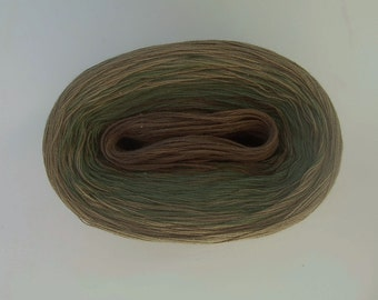 NEW WOODY II  Color Changing Cotton yarn 480 yards/100 gr