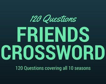 "PRINTABLE ~ ""Friends"" Crossword Puzzle ~ Trivia ~ Digital Download"