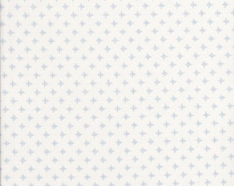 Cotton Tail Cottage - Blue and White Fabric - Low Volume Fabric -  Blue Fabric - Bunny Hill Designs